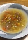 もち麦入り野菜スープ
