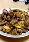 簡単Cafe風ふわふわ卵と豚肉の甘辛炒め