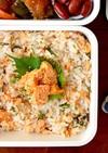 簡単美味しい♪鮭の塩焼きと大葉の混ぜご飯