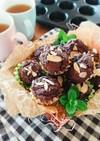 米粉で作る☆簡単濃厚チョコマフィン。