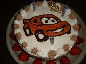 「カーズ」大好き少年のバースデーケーキ