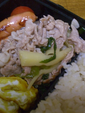 筍と豚肉の炒め煮