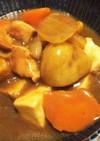 ご飯代わりの厚揚とムネ肉で糖質オフカレー