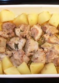鶏肉とじゃがいものローズマリー焼き