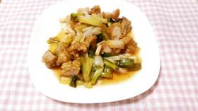 鶏唐揚げとネギの甘酢炒め