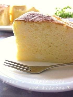 シュワホロ♫優しい半熟スフレチーズケーキ
