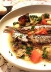 鰯deアクアパッツァ 白身魚や切り身でも