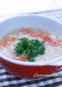 押し麦とトマトのスープ
