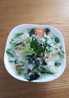 朝ごはんに、大量野菜のミルクリゾット