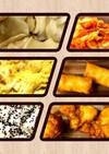 男弁当10分 水餃子、唐揚げ、春巻き