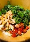 新玉ねぎとパクチーのタイ風サラダ