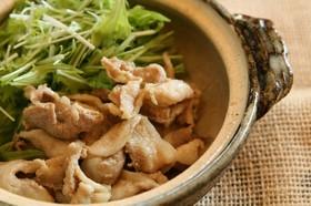 土鍋でチンするだけの豚肉生姜焼き