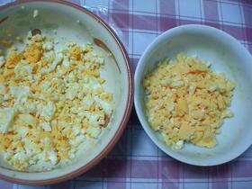 レンジで簡単!ゆで卵のみじん切りの作り方