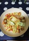 豆腐とちくわの卵炒め