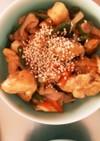 鶏胸肉と野菜のピリ辛中華風炒め