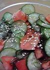もずく入りトマトときゅうりの中華風サラダ