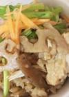 根菜かしわ(鶏)炊き込みご飯