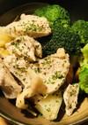 手間いらずの塩ゆでチキン&温野菜のサラダ