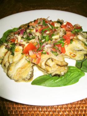 牡蠣のソテー セビーチェ風