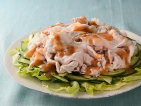 梅風味の豚しゃぶサラダ