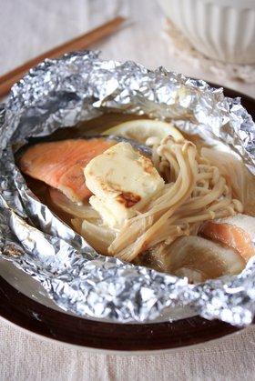 クリームチーズのっけ「鮭のホイル焼き」