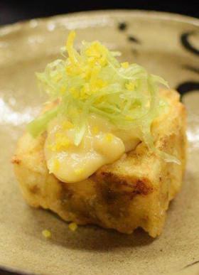 牡蠣の葛豆腐