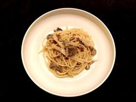 乾燥ポルチーニ茸のクリームパスタ