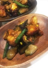 鶏むね肉の揚げ焼き コチュジャン甘辛味