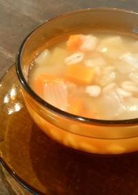 アレンジも楽しみ!押し麦と根菜のスープ