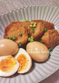 角煮味で☆ジューシー仙台麩と煮卵