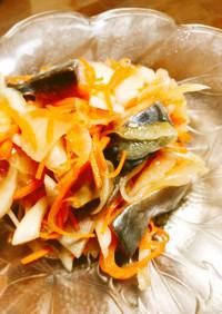 しめ鯖と玉ねぎのわさびポン酢和え♩