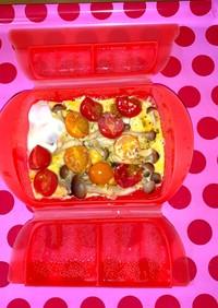 <ルクエ>しめじとミニトマトのオムレツ