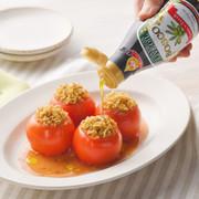 オリーブ香るトマトとおまめの焼きサラダの写真