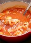 鶏手羽元と里芋のトマト煮