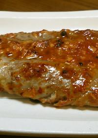 カツオのハラス、にんにく味噌。