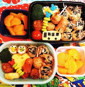 幼稚園(年中)双子のお弁当35