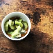 キウイとヨーグルトの蜂蜜のせの写真