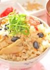 黒豆と牛バラ肉の炊き込みご飯