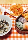 生姜香る♪野菜かき揚げ(お弁当に変身)