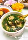 簡単☆鶏肉もも肉ニラと椎茸ごちそうスープ