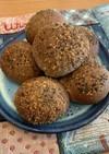 もち麦&全粒粉 黒胡麻胡桃パン