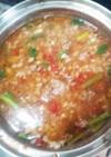挽き肉と押麦の食べるスープ