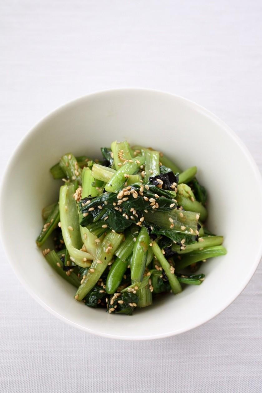 レンジで簡単【小松菜のナムル】