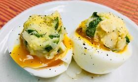 ゆで卵のポテサラ盛り