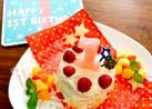 お豆腐で♪砂糖不使用1歳バースデーケーキ