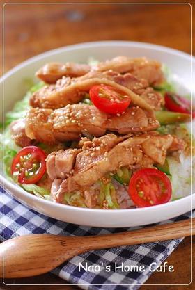 蒸し鶏サラダ丼♡