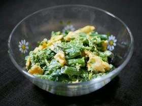 菜の花とふわふわたまごのサラダ