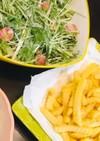 水菜のミニトマトのサラダ