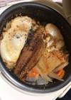 今日の炊飯器メシ[ホッケの塩焼き]