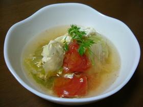 朝にぴったりトマト&レタススープ